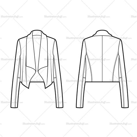 dress design draping and flat pattern making download women s drape front jacket flat template illustrator stuff