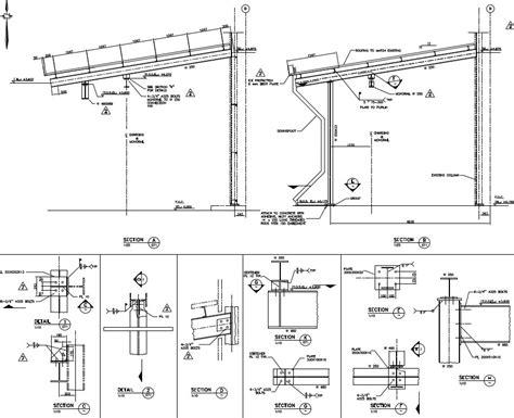 Steel Construction Section by 3d Cad Design Services Cad 2d 3d Design Sles