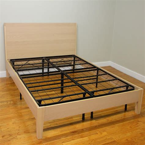 heavy duty king size bed frame hercules cal king size 14 in h heavy duty metal platform bed frame 125001 5070 the
