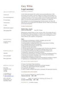 legal secretary cv sample