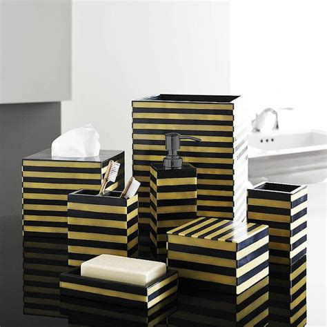 gold and black luxury bath accessory sets