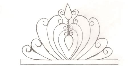 tiara template for cake princess tiara template enjoy use gumpaste or fondant