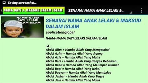 Arti Nama Dalam Islam | download maksud nama bayi dalam islam for android appszoom