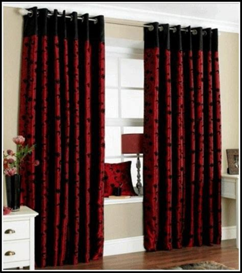 red and black curtain red and black curtains bedroom photos and video