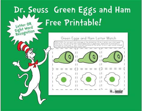 green eggs and ham template dr seuss green eggs and ham free printable m is for