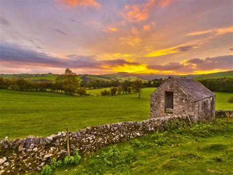 Stone Wall Murals uk england derbyshire peak district national park
