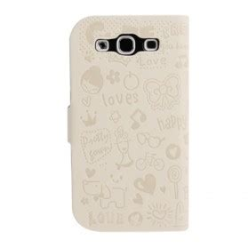 Magic Left Right Flip Leather For Galaxy Siiii9300 Purple magic left and right flip leather for samsung
