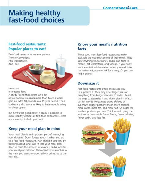 7 Ways To Make Fast Food Healthier by Healthy Fast Food Choices