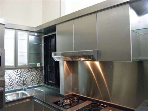 Meja Stainless kitchen set minimalis modern kitchen set stainless steel kitchen set di malang modern