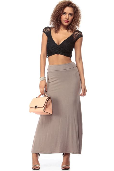 fit and flare maxi skirt