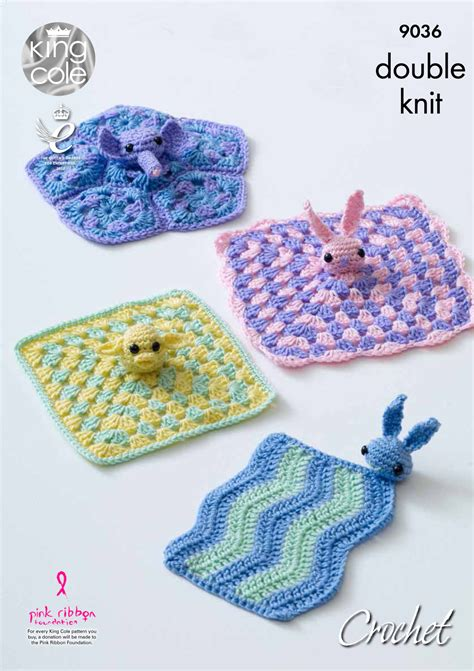 comfort blanket knitting pattern king cole dk crochet pattern bunny elephant or chick baby