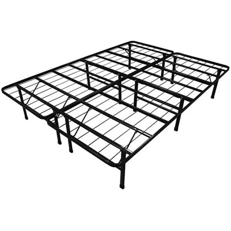 collapsible bed frame queen size duramatic steel folding metal platform bed