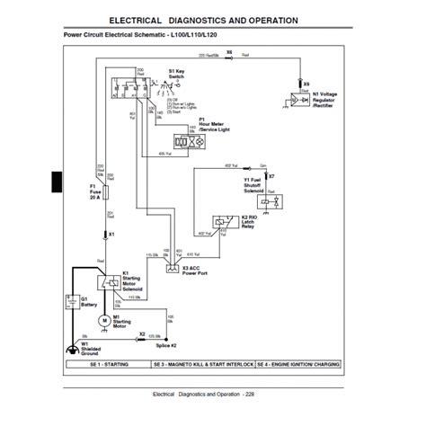 wiring diagram for deere l110 lawn mower wiring