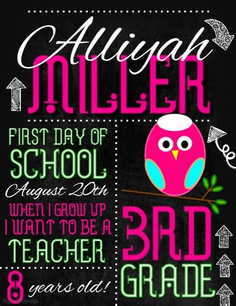 day of school template day of school template postermywall