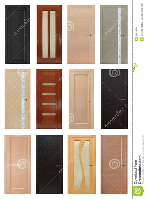 Setting Interior Doors by Set Of 12 Interior Wooden Doors Royalty Free Stock Photos