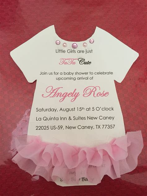Onesie Baby Shower Invitation by Baby Shower For Tutu Baby Shower Pink Invitations