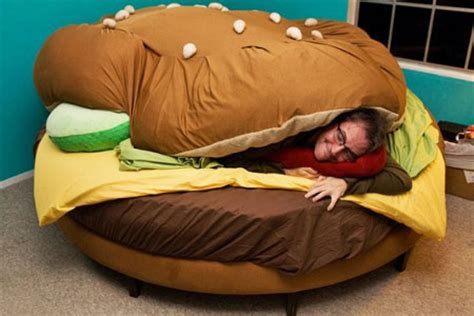 funny bed the hamburger bed funny pictures