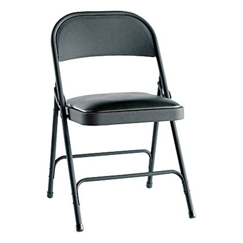 Office Depot Folding Chairs alera steel folding chairs padded seat graphite of 4 by office depot officemax