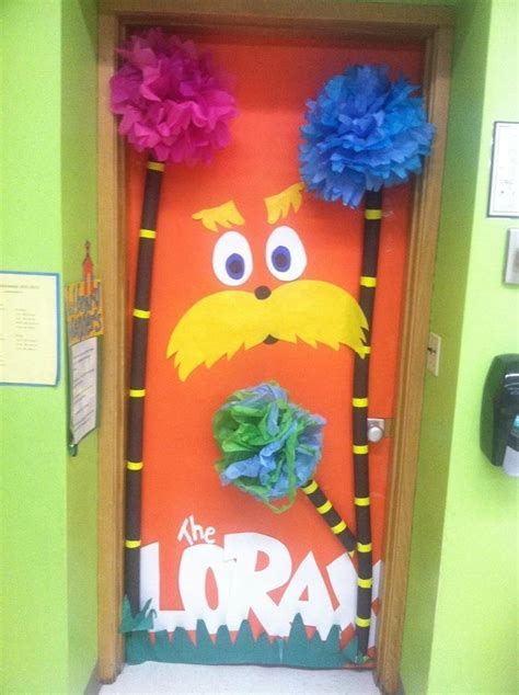 dr seuss door decoration for the library i love the lorax