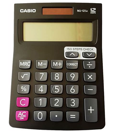 Casio Calculator Mj 12d casio mj 12sa black basic calculator buy at best
