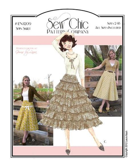 sewing pattern companies independent spin skirt sewing pattern by sew chic pattern company