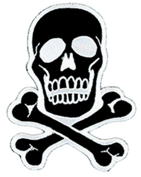 Aufkleber Totenkopf Schwarz by Totenkopf Patch Schwarz Weiss Aufkleber Sticker Skull
