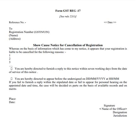 esi cancellation letter format gstr 3a notice for not filing gst return indiafilings