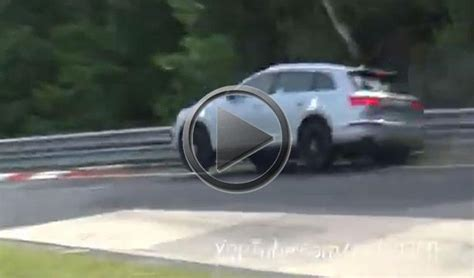 Audi Carousel by Audi Sq7 Prototype Crashes On The Nurburgring Carousel