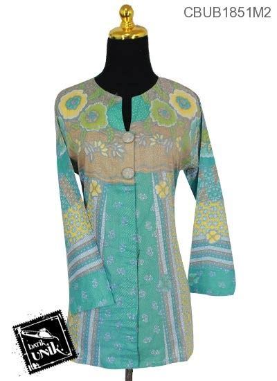 Tunik Bigsize Motif Bunga blus tunik panjang katun motif bunga kamboja blus lengan panjang murah batikunik