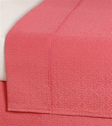 coral coverlet luxury bedding by eastern accents mea coral coverlet