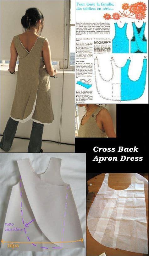 crossover back apron pattern waldorf kindergarten apron linen cross over apron