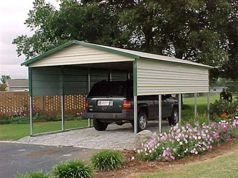 Single Metal Carport Single Carports One Car Carports 1 Car Carports