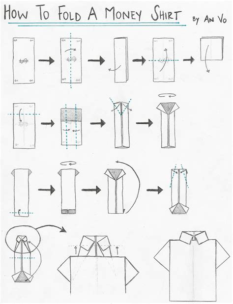 Origami T Shirt Folding - how to fold origami shirt and origami tie origami paper