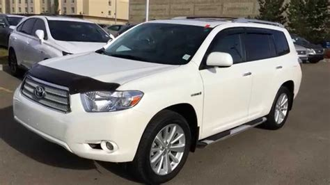 2008 Toyota Highlander Hybrid Limited Pre Owned White 2008 Toyota Highlander Hybrid 4dr Limited