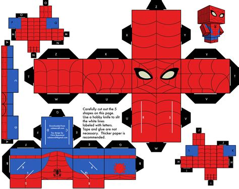 amazing spider man papertoy paper toy fr