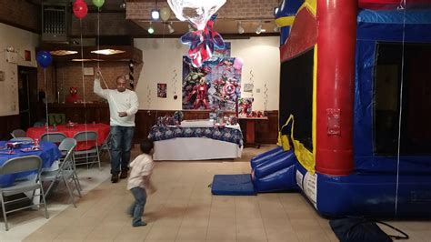 bounce house party marvel super hero bounce house party