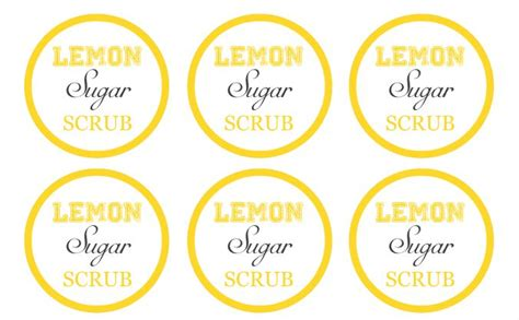 printable lemon recipes lemon sugar scrub recipe diy gift idea lemon sugar