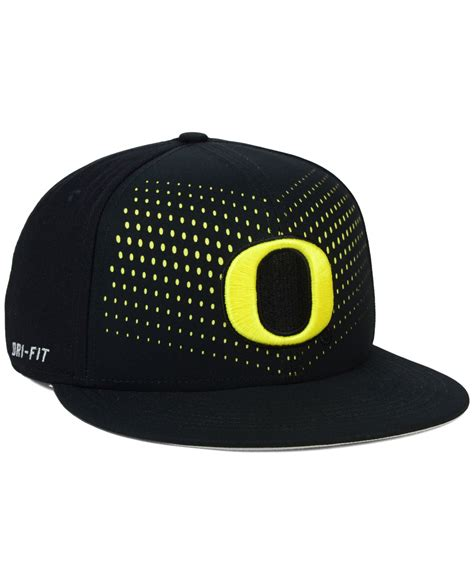Snapback Nike Sn101 1 nike oregon ducks true seasonal snapback cap in black for lyst