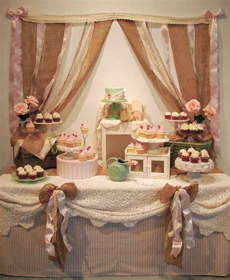shabby chic vintage cake table lakeside wedding ideas