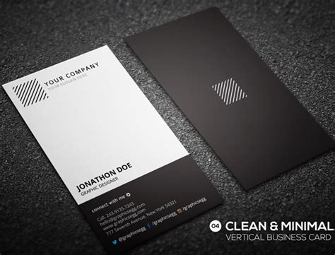 modern business card template vertical 30 minimalistic business card designs psd templates