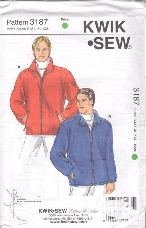 uk zip code pattern kwik sew 3187 mens casual zip front fleece jacket pattern