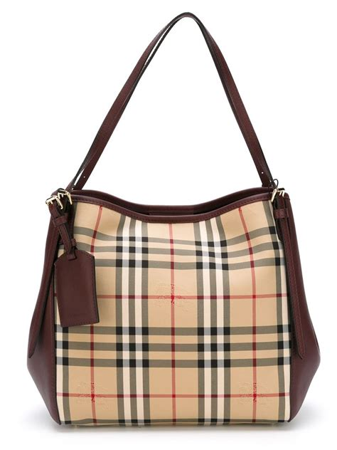 Burberry Bag lyst burberry small canter in horseferry check tote