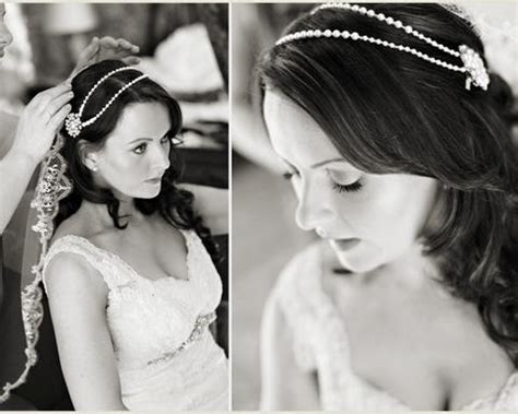 Hair Drape world charm vintage style headpiece with draping