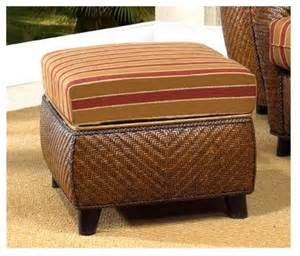 Rattan Storage Ottoman Grand Bahama Rattan Storage Ottoman In Traditional Footstools And Ottomans By Ivgstores