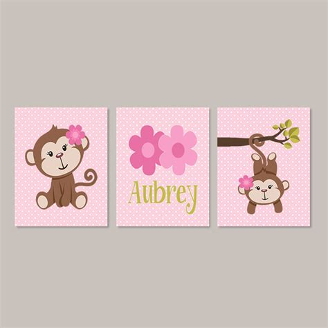Monkey Nursery Wall Decor Monkey Nursery Decor Monkey Bathroom Wall