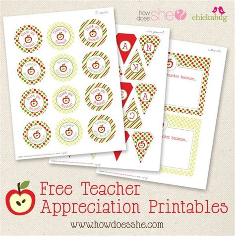 printable banner labels free teacher appreciation printables includes a pennant
