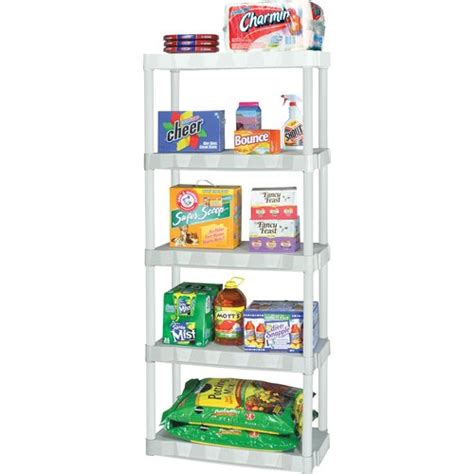 plano molding 5 shelf shelving unit white walmart
