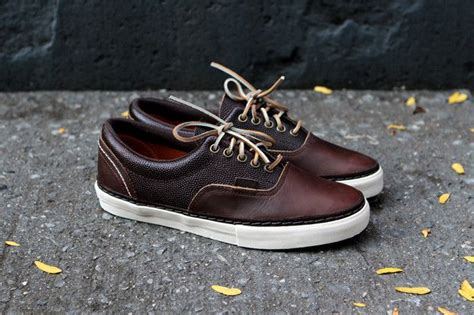 Sepatu Leather Vans Brown vans vault horween era brown sneaker kith nyc 100