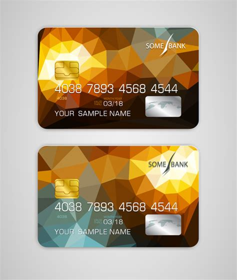 credit card template 2016 abstract credit cards template vector 08 vector abstract