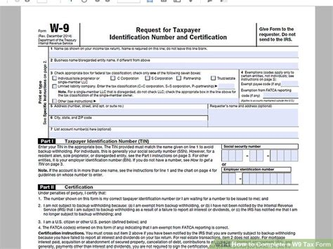 w9 template how to complete a w 9 tax form 9 steps with pictures